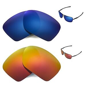 77ba9b907d Image is loading New-Walleva-Polarized-Fire-Red-Ice-Blue-Lenses-