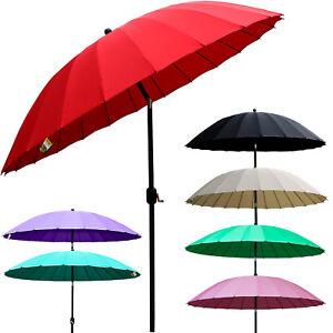 2.7M Tilting Parasol Shanghai Umbrella Sun Shade for Garden Patio