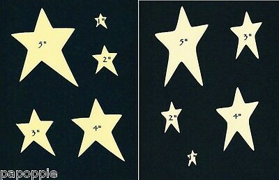 Stencil Primitive Stars 2 Different Styles 5 Sizes Country Folk Art Paint