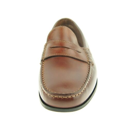 """Brown Italy Men/'s Shoes Daniele Lepori /""""Poker/"""" Leather Penny Loafer"""