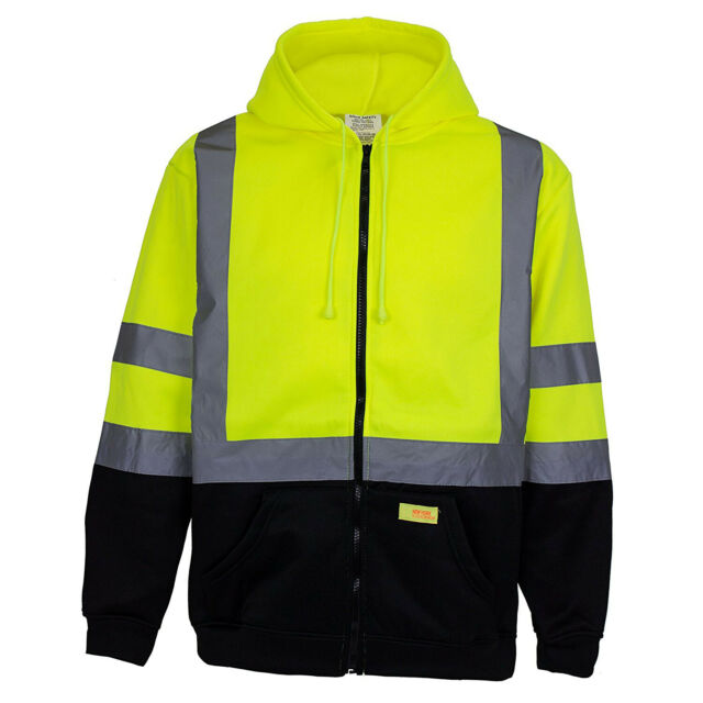 Winter Safety Jacket High Visibility Reflective Full Zip Coat Class 3 2xl For Sale Online Ebay