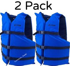 Adult Life Jacket Preserver 2-Pack Blue USCG Type III Fishing Boating PFD Vest