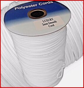 2mm Roman Blind Lift Cord Quality White Polyester