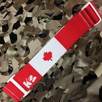 Km Paintball Universal Mask Goggle Strap - Canada Flag