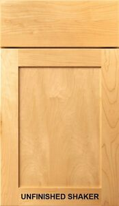 Unfinished Shaker Kitchen Bath Cabinet Doors Drawer Fronts Refacing - Bathroom cabinet doors and drawer fronts