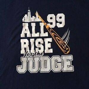 7d7224b18 NEW AARON JUDGE NAVY BLUE #99 NEW YORK YANKEES * ALL RISE FOR THE ...
