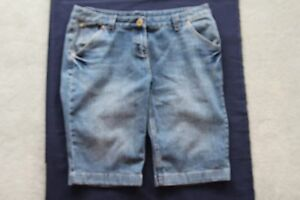 LADY-039-S-BLUE-DENIM-RETRO-JEANS-SHORTS-by-039-EXPRESSIONS-039-Size-14-GOOD-CONDITION