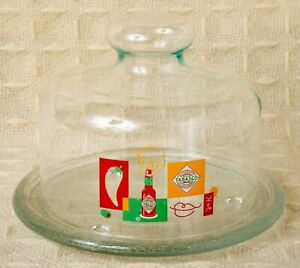 Vintage Tabasco Brand Glass Tray
