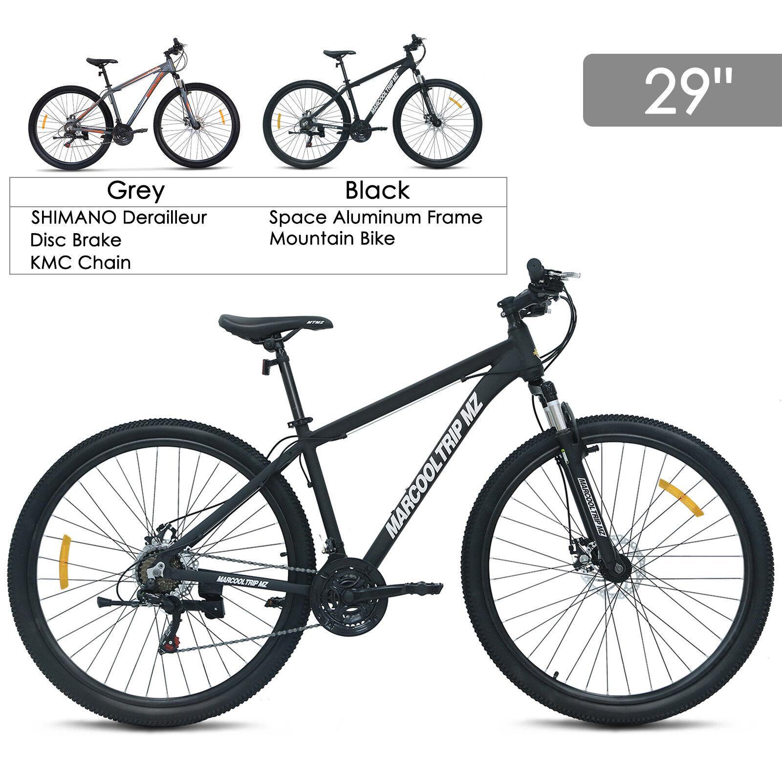 29 Aluminum Frame Men's Mountain Bike 21 Speed Shimano Hybrid Bicycle Disc Brake