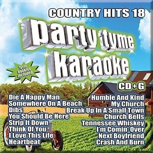 Various-Artists-Party-Tyme-Karaoke-Country-Hits-18-New-CD