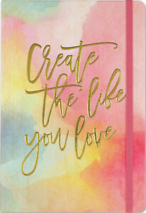 A5-Bullet-Journal-Create-The-Life-You-Love-Dot-Matrix-Grid-Note-Book-Hard-Back