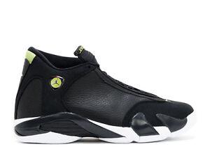 Nike Air Jordan 14 XIV Retro Indiglo Vivid Green Sz 15 Black White 487471-005