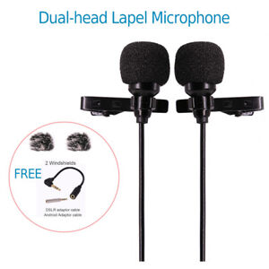 Professional-Dual-Headed-Lapel-Microphone-with-Windshields-for-Iphone6-Iphone7