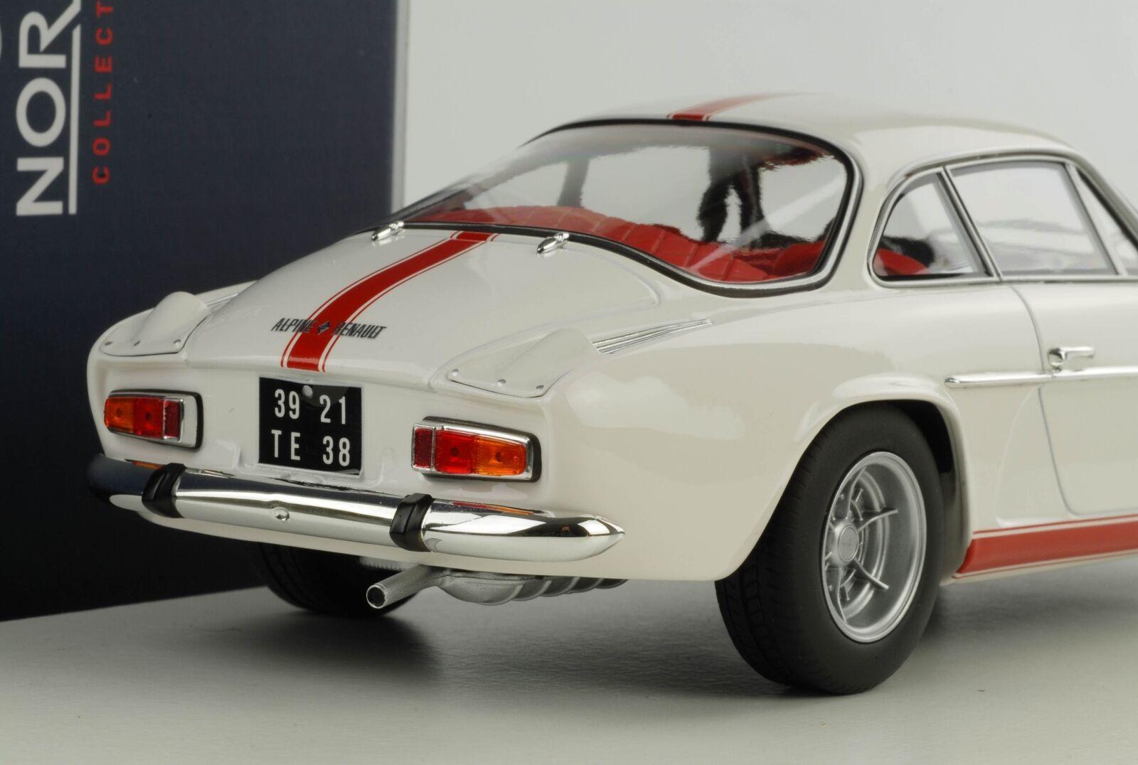 RENAULT Alpine 1600s a110 1971 bianco con con con strisce rosso 1 18 NOREV 185303 23db90