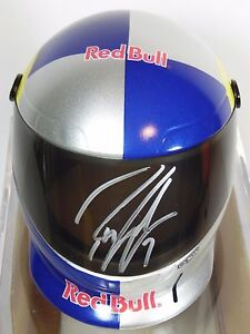 ROBBY-GORDON-AUTOGRAPHED-SIGNED-RED-BULL-RACING-TEAM-MINI-HELMET-WITH-CASE-amp-COA