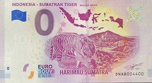 BILLET-0-EURO-INDONESIA-SUMATRAN-TIGER-2019-NUMERO-4400
