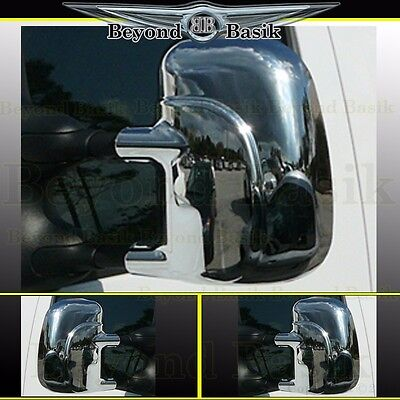 FOR FORD F-250//350//450 99-07 CHROME MIRROR COVERS W// HOLE FOR TRUNING LIGHT