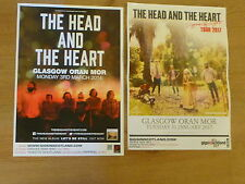The Head And The Heart - Scottish tour Glasgow concert gig posters x 2