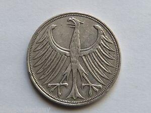 Image Is Loading 1951 Bundesrepublik Deutschland 5 Deutsche Mark Silver Coin