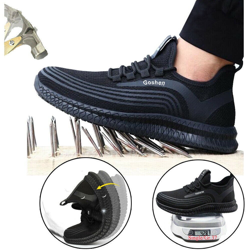 Mens Safety Trainers Work Shoes Lightweight Womens Steel Toe Cap Sports Boots UK