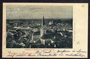 88596 AK Ljubljana Laibach 1898z Grada s sv. Jakopa cerkvijo. Mondscheinkarte