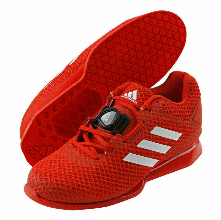 Adidas Leistung 16 2.0 Men's Weightlifting shoes CrossFit Powerlift Red   not to be missed!