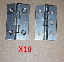 10 Pc Stainless Steel Butt Hinge 1 14 X 75 Hole 34 Cabinetcraftlot 02 04017