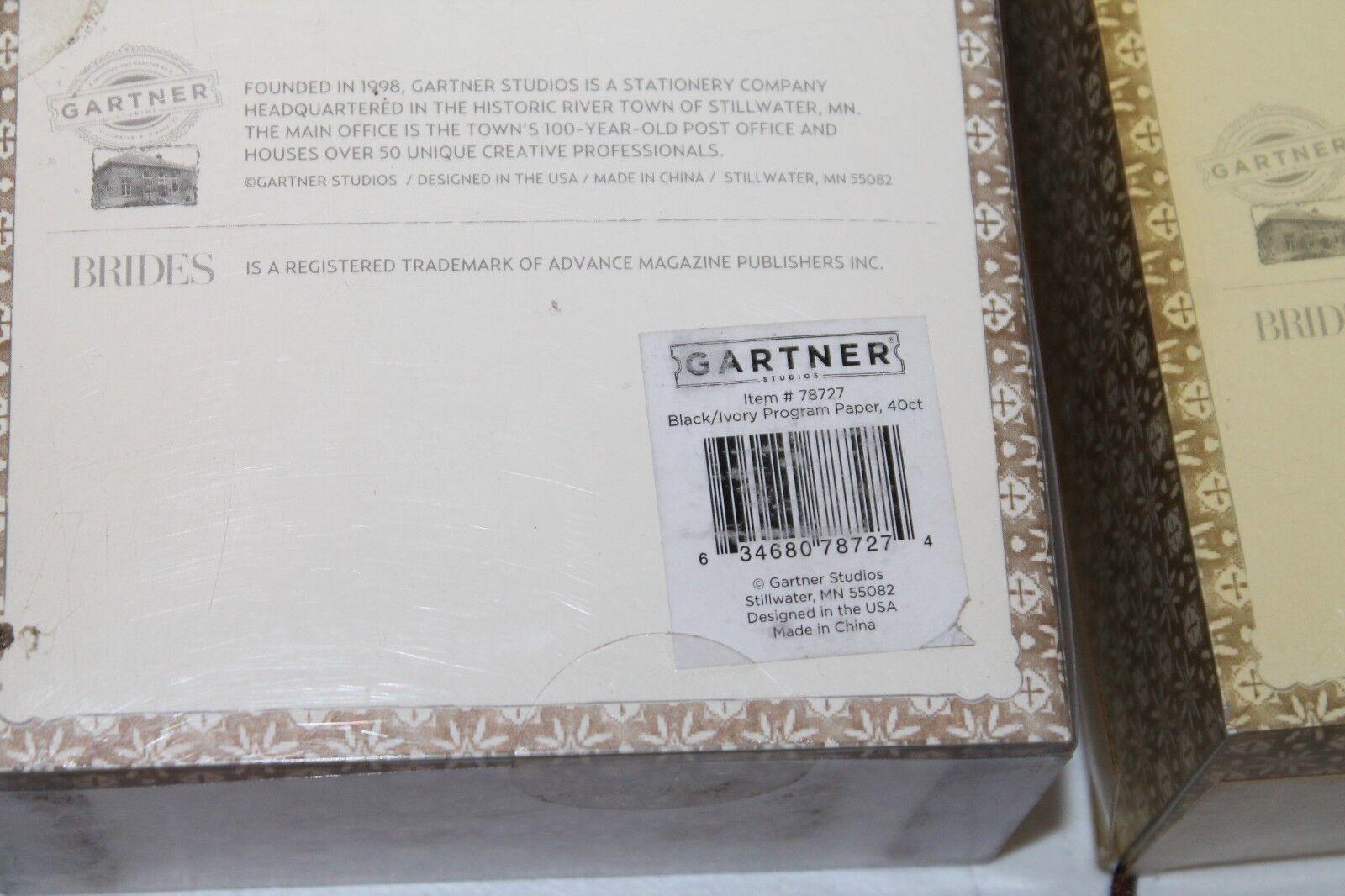 3 X Gartner Studios Brides Printable Invitation Kit Brown Multi