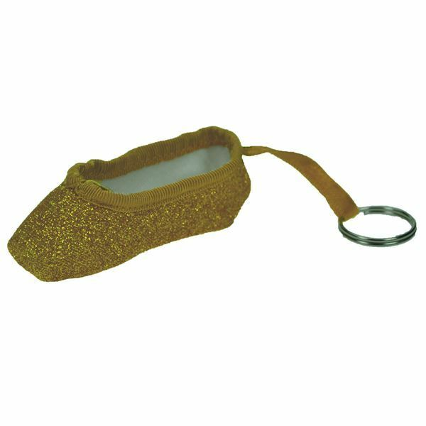 So Danca KCEG Glitter Pointe Shoe Keyring in Gold