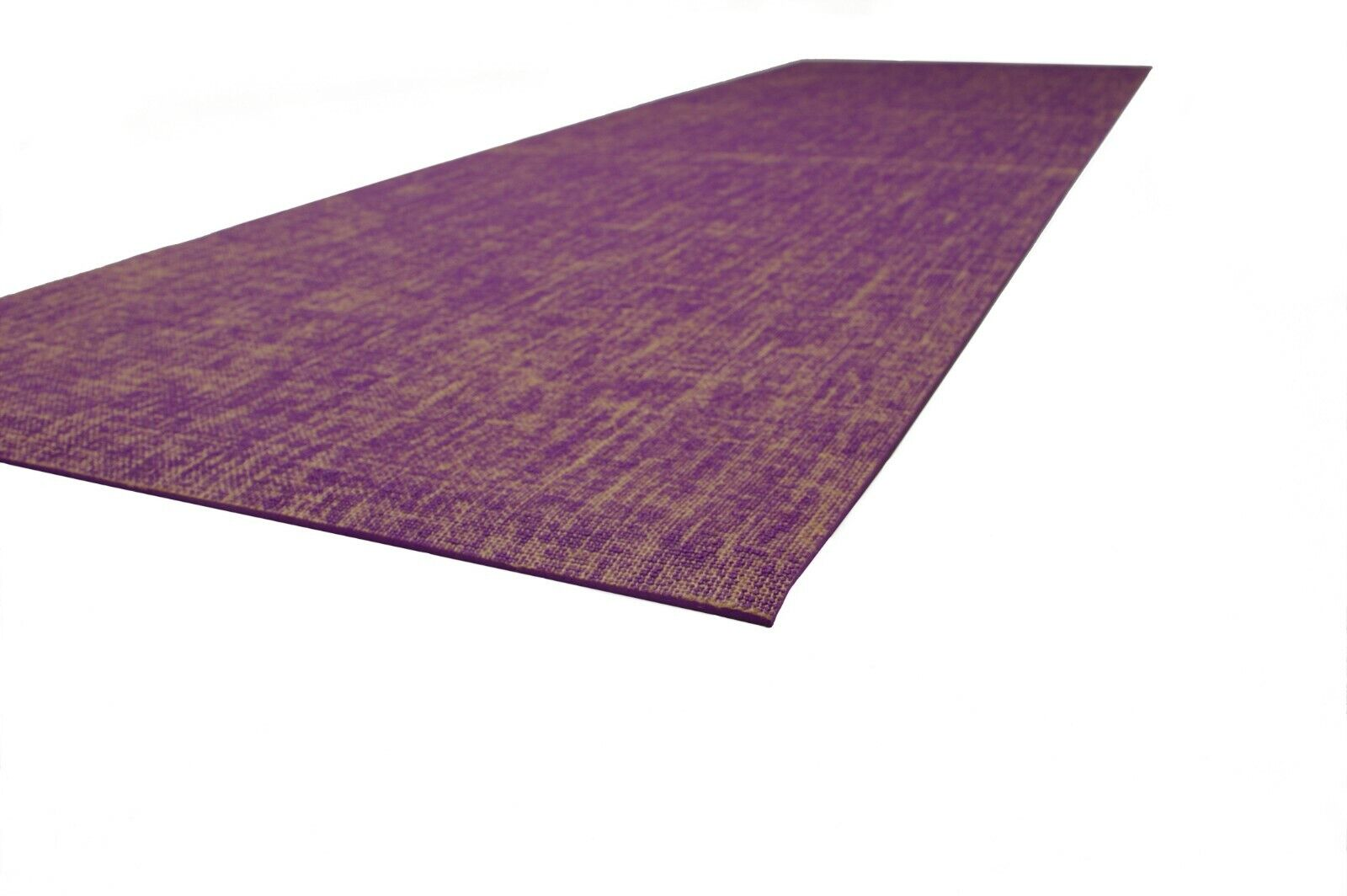 Wholesale Box of 8 Yoga Mats. lila with Jute woven into top surface