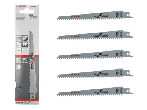Bosch Professional 2608650673 Lame de scie sabre S 644 D Top for Wood 5 pièces