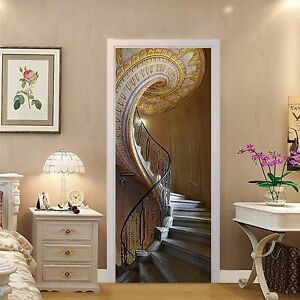 Lovely Image Is Loading 3D Stairs Patterns Door Wall Mural Photo Wall