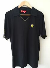 Men's Puma Ferrari Designer Black T shirt Top Size Small