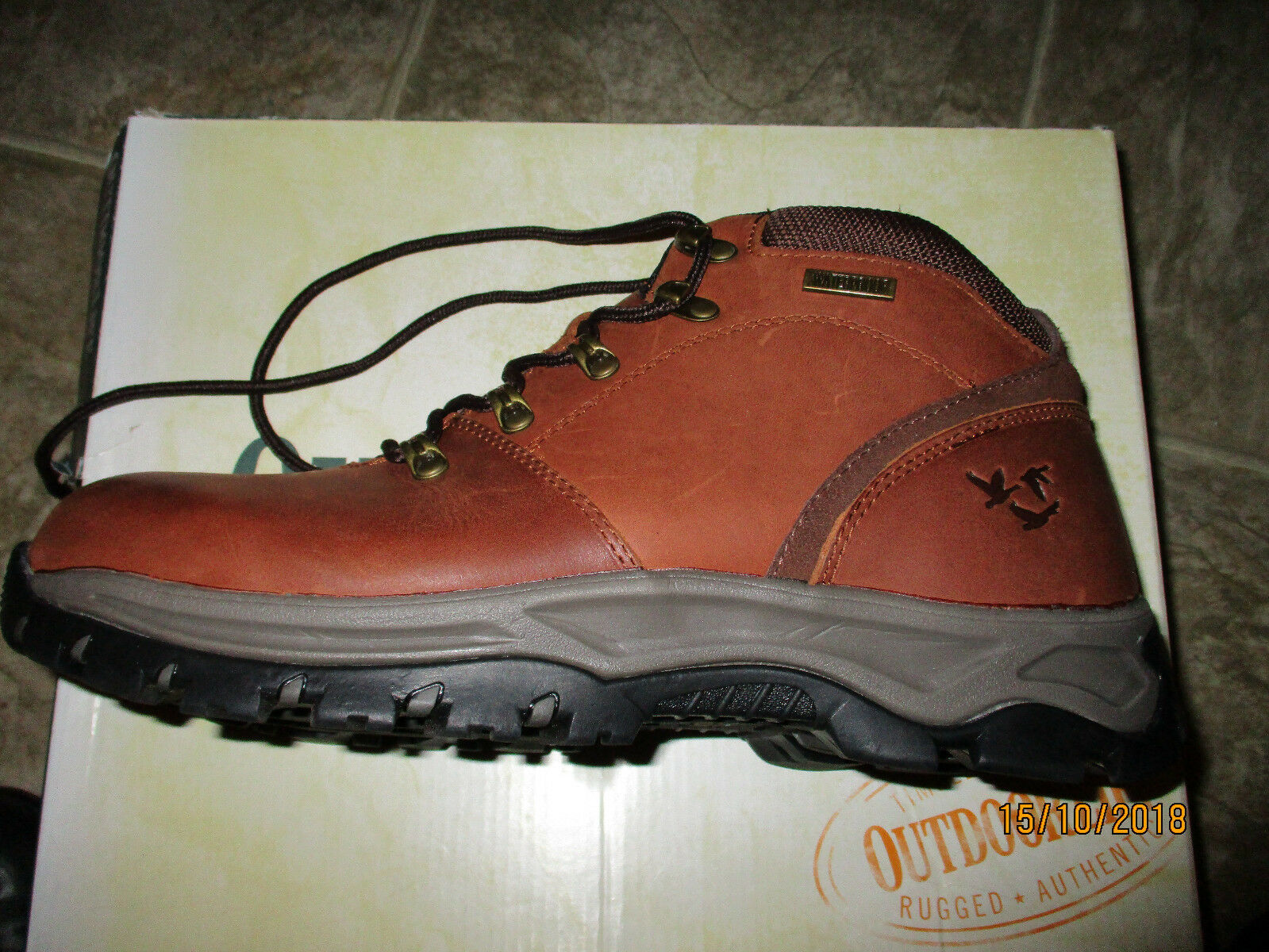 Outdoor Life Men's  Ascend Leather Hiker Brown Waterproof hiking shoes boot 11M  designer online