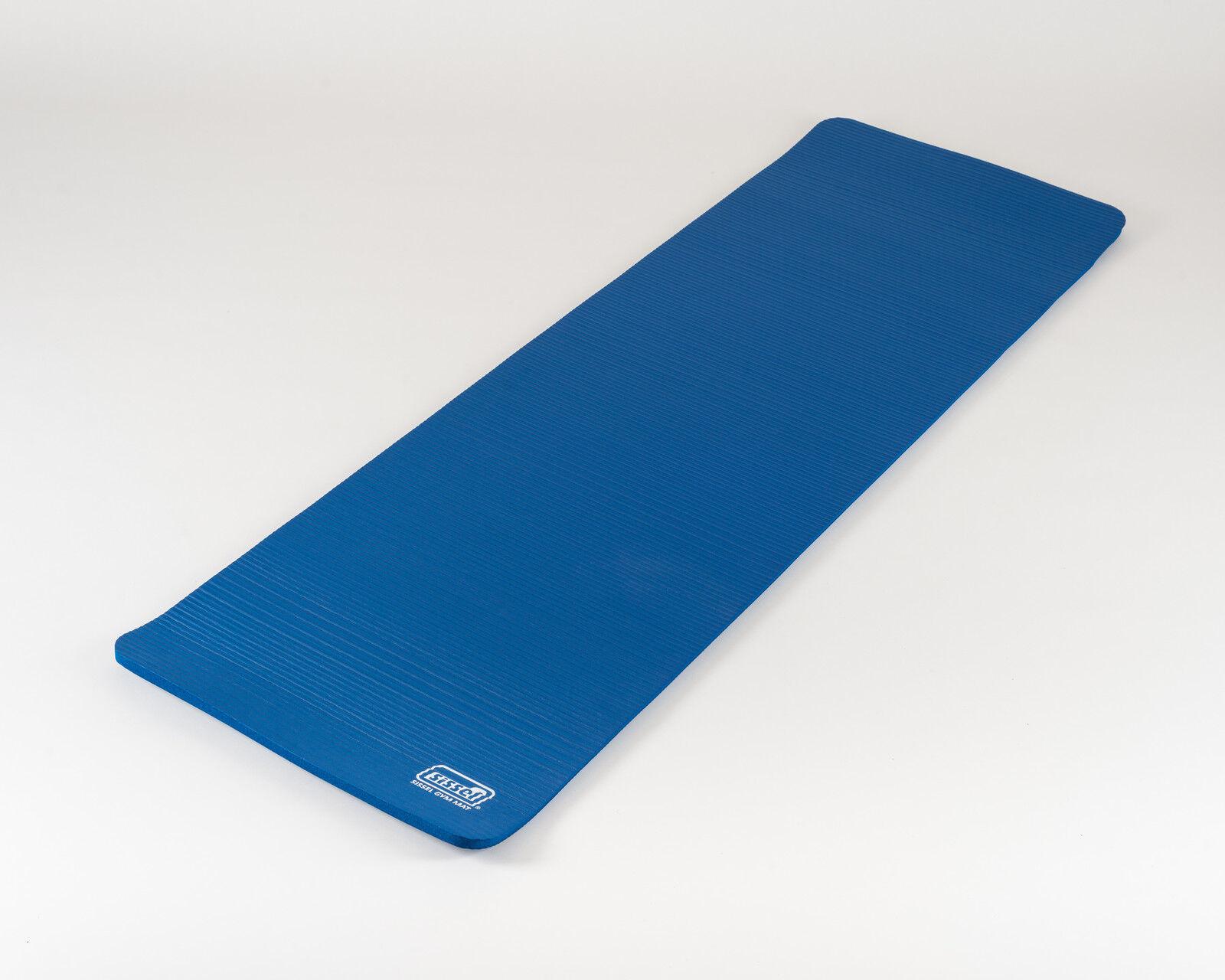SISSEL® Gymnastikmatte Körperentspannung Trainingsunterlage Yogamatte blau