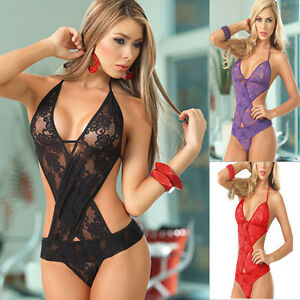 Image Is Loading Female Erotic Porn Sexy Costumes Lingerie Net Bodysuits