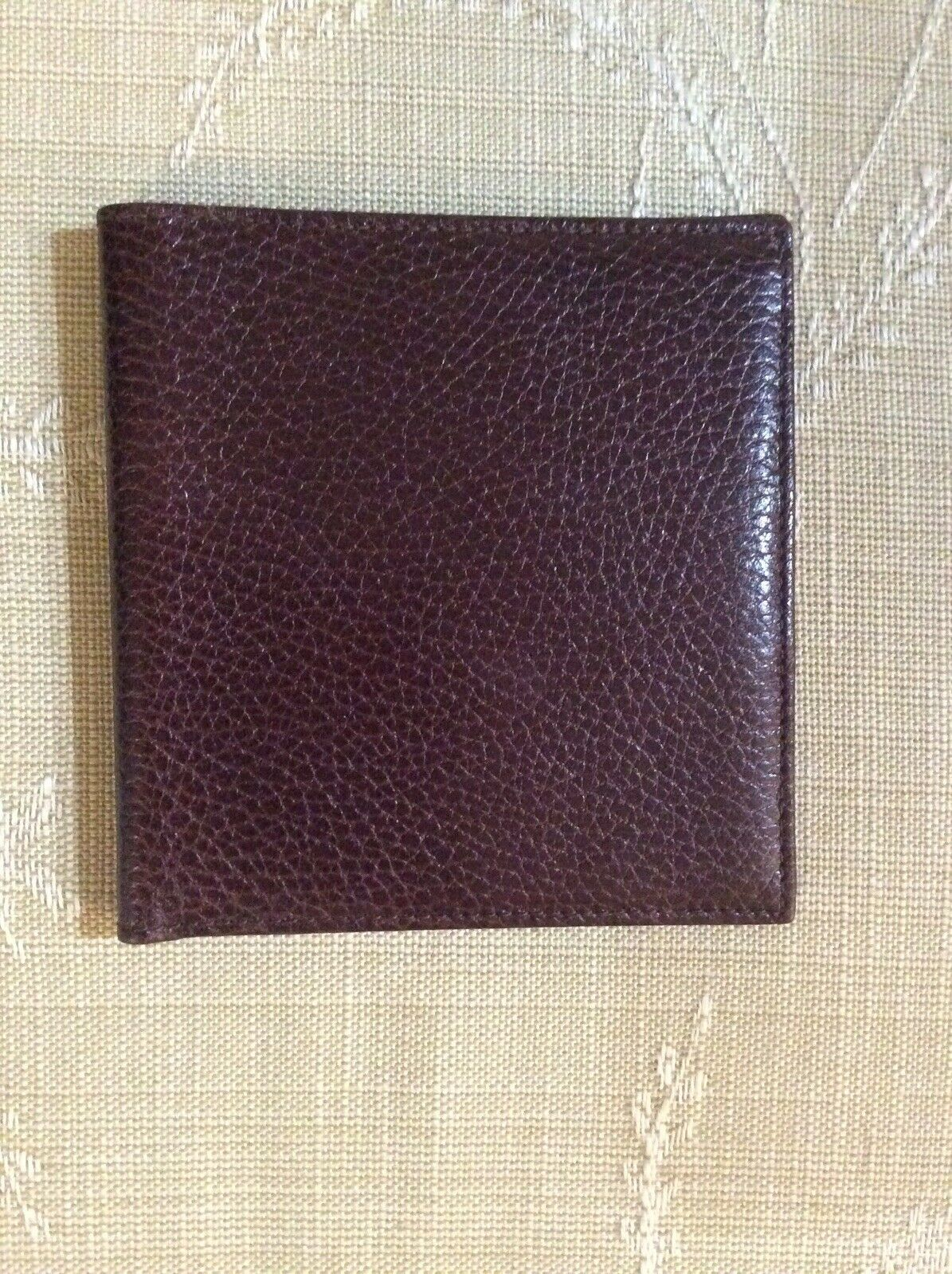 Cross Brand Men's Soft Pebbled Brown Leather Wallet, Made In Italy