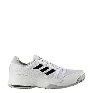 Image is loading Men-039-s-Adidas-Barricade-Court-Wide-White-