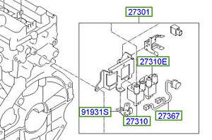 Surprising Genuine Hyundai I10 Ignition Coil Pack 2730103010 Ebay Wiring Cloud Nuvitbieswglorg