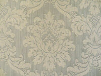 Damask floral medallion drapery / upholstery decorator fabric in Aspen