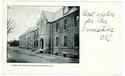 Annandale NY -CAMPUS ST STEPHEN'S COLLEGE-NOW BARD- Postcard nr Red Hook
