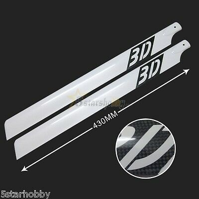 430mm 3D Carbon Fiber Main Rotor Blades for Align Trex 500 Helicopter