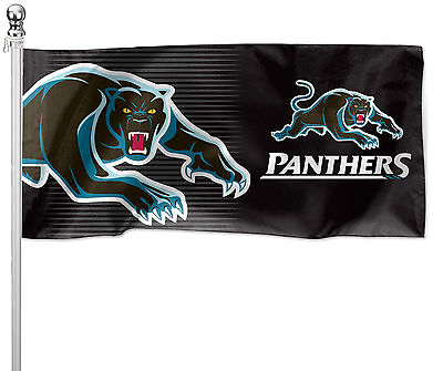 LARGE 1800x900mm Licensed NRL PENRITH PANTHERS Pole Flag (Pole not included)