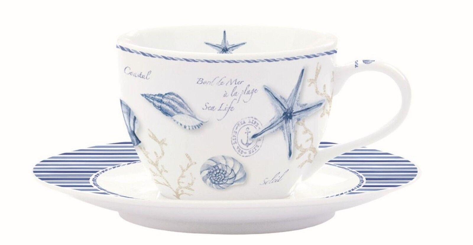 Easy Life Mistral Set 6 Tasses Café avec Soucoupe - Porcelaine
