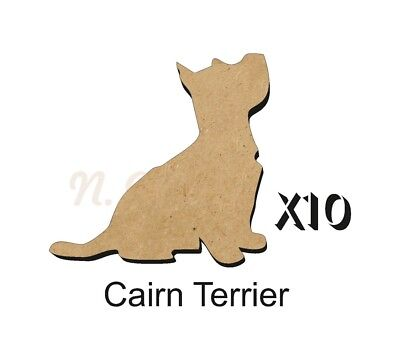 MDF Shape Dog 10 Scottish Terrier MDF cutouts keyring 5 Sizes FREE Hole DOGW001