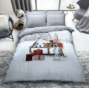 New Christmas Bedding Duvet Cover Set King Size Double Single Kids