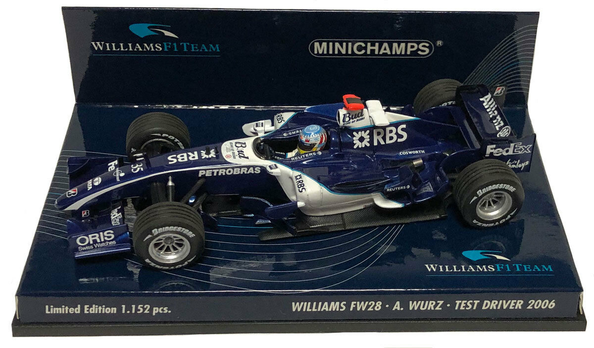 Minichamps Williams FW28 2006  35 test Driver-ALEXANDER WURZ  SCALA