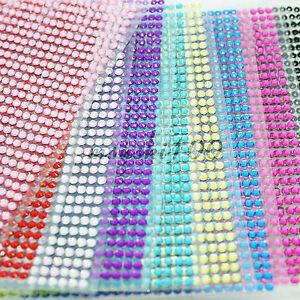 DIAMOND-STICKERS-RHINESTONE-STRIP-CRYSTAL-DIAMANTE-STICK-ON-3mm-SELF-ADHESIVE