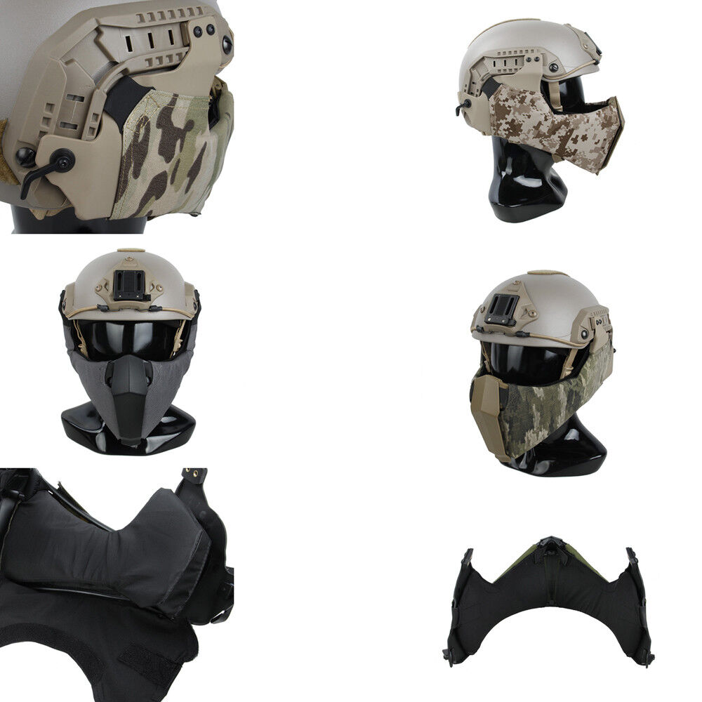 TMC Mandible Tactical Guide Rail Connection Half Face Mask for OC Highcut Helmet