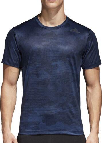 Blue adidas FreeLift ClimaCool Graphic Short Sleeve Mens Training Top